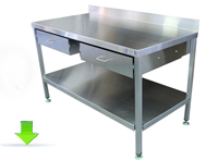 Double Drawyer Stainless Table