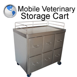 Mobile Veterinary Storage Cart