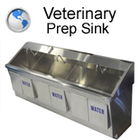 Veterinary Prep Sink