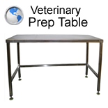 Veterinary Prep Table