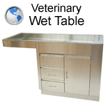 Veterinary Wet Table