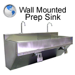 Wall Mounted Prep Sink